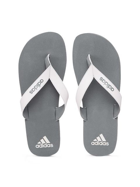 ADIDAS Men Grey PUKA Thong Flip-Flops