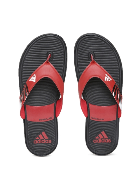 Adidas Men Red & Black SC Beach II Flip-Flops