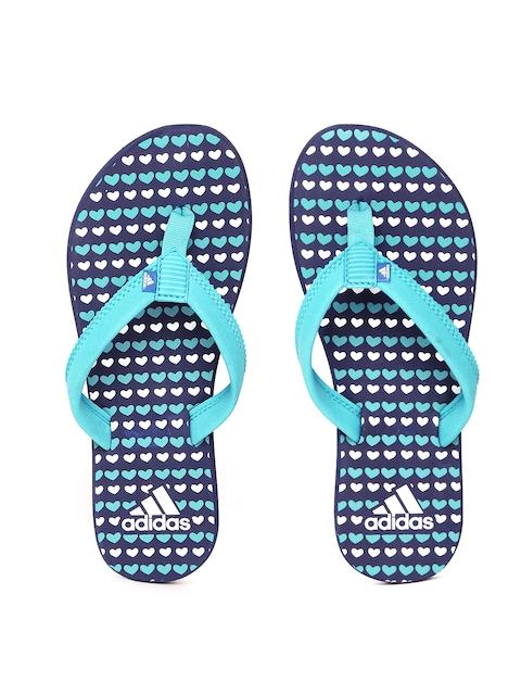 Adidas Women Green & Navy ADI CLAD Printed Thong Flip-Flops