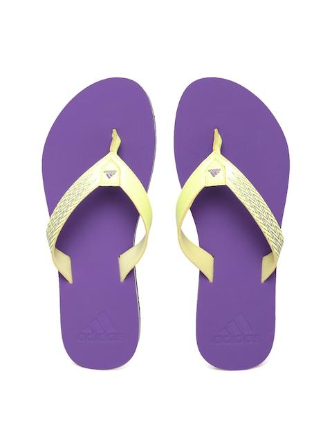 Adidas Women Yellow & Purple Brizo 4.0 Printed Flip-Flops