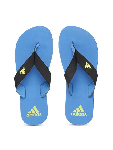 Adidas Men Black & Blue EEZAY Maxout Flip-Flops