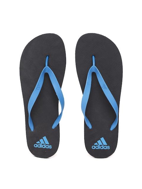 Adidas Men Blue & Black Rib Thong Flip-Flops
