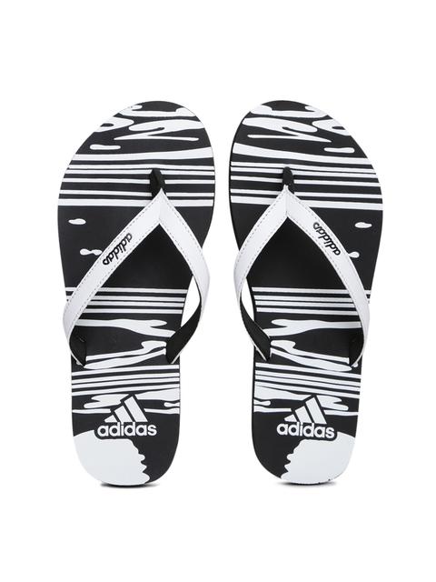 Adidas Girls White & Black JUNG Printed Flip-Flops