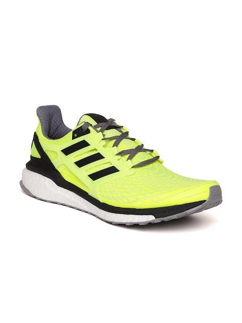 Adidas Men Fluorescent Green Energy Boost Running Shoes