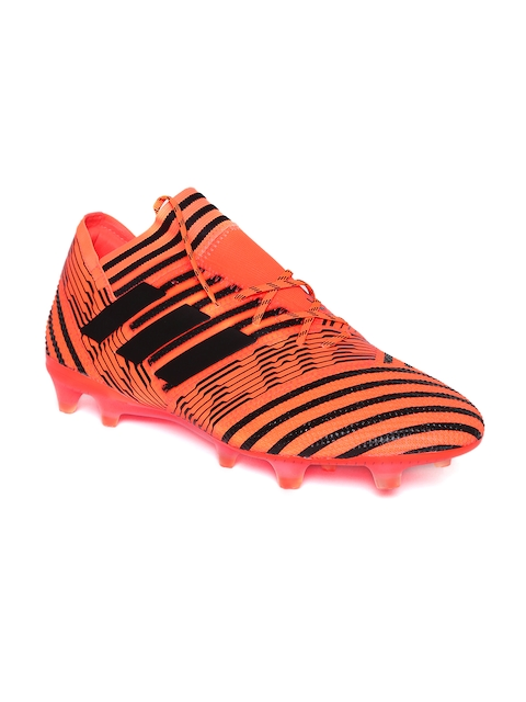 ADIDAS Men Orange & Black Striped Nemeziz 17.1 FG Football Shoes