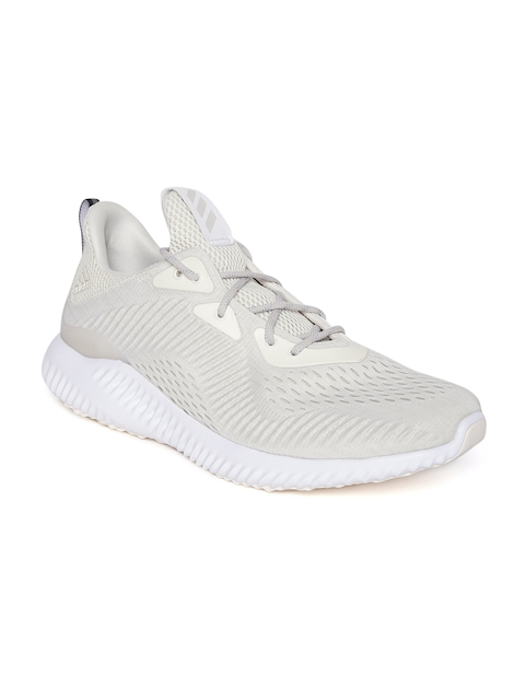 Adidas Men Cream-Coloured Alphabounce EM Running Shoes