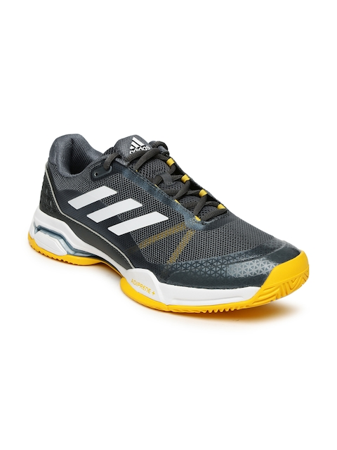Adidas Men Grey Barricade Club Tennis Shoes