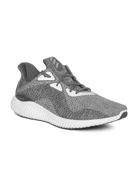 Adidas Men Grey Alphabounce HPC AMS Flock Print Running Shoes