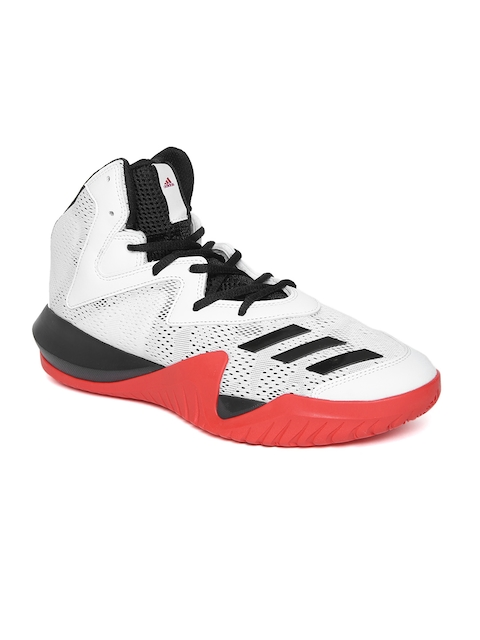 Adidas Men White Crazy Team 2017 Mid-Top Basketball Shoes