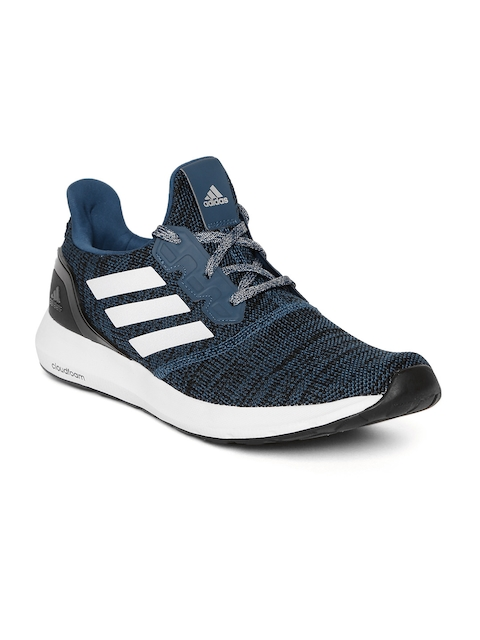 Adidas Men Blue & Black ZETA 1.0 Mid-Top Running Shoes