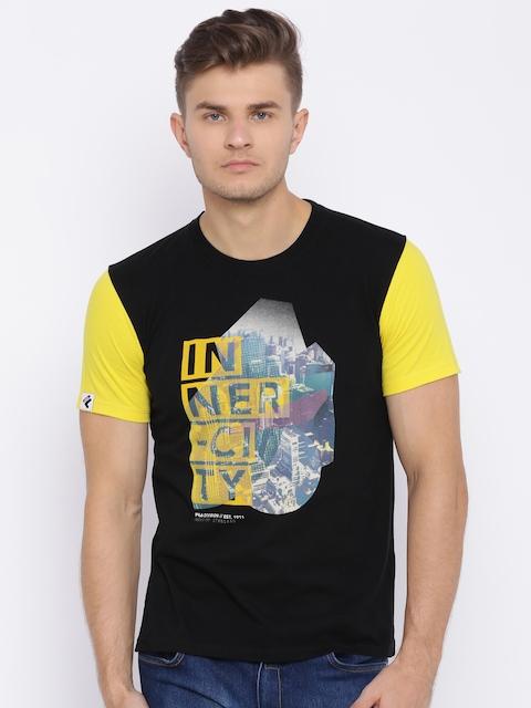 FILA Men Black Printed T-shirt