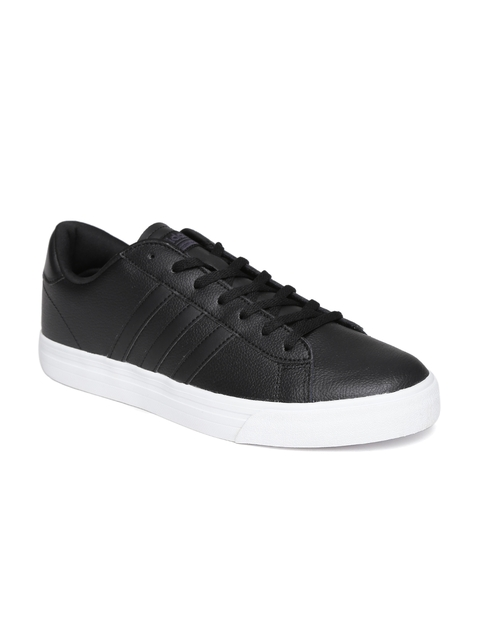 ADIDAS NEO Men Black CloudFoam Super Daily Leather Sneakers