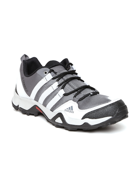 Adidas Men Grey Path Cross Trekking Shoes  available at myntra for Rs.6599