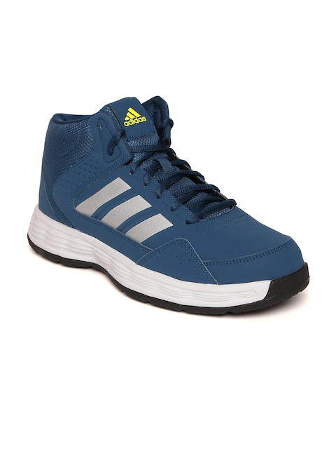 Adidas Men Teal BlueMid-Top ADI RIB Basketball Shoes