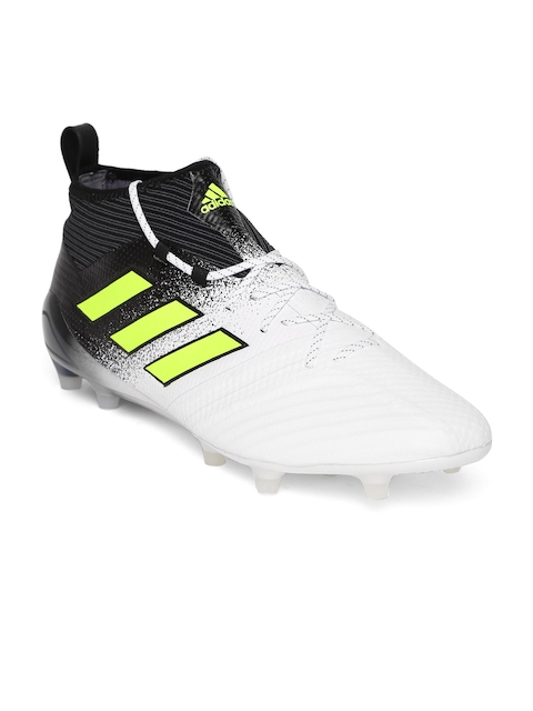 ADIDAS Men White & Black Ace 17.1 FG Football Shoes