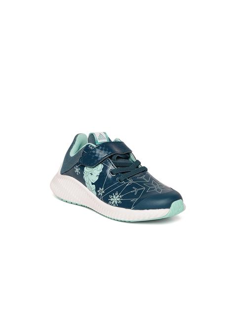 Adidas Girls Teal Blue DY Frozen Fortarun EL C Running Shoes