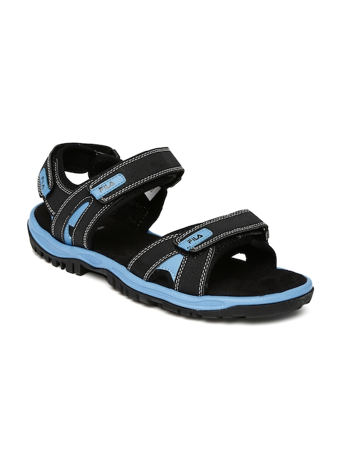 FILA Men Black Belmont Sports Sandals