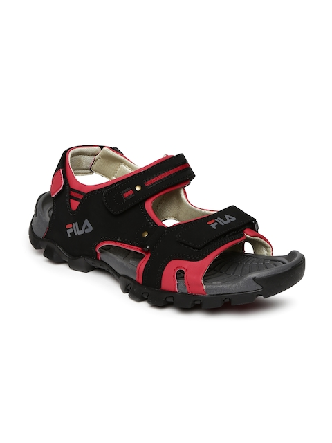 FILA Men Black & Red Eudora Sports Sandals  available at myntra for Rs.779
