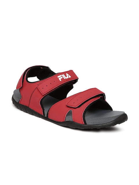 FILA Men Red Burk Sports Sandals  available at myntra for Rs.629