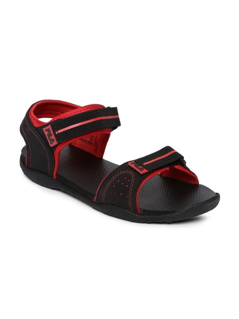 FILA Men Black Elwald Sports Sandals  available at myntra for Rs.509