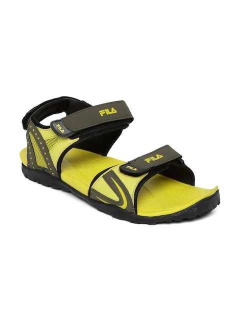 FILA Men Olive Green Lamont Sports Sandals