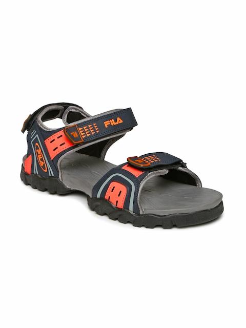 FILA Men Navy & Orange Kalem Sports Sandals  available at myntra for Rs.509