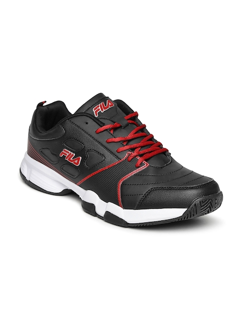 FILA Men Black Becker Tennis Shoes