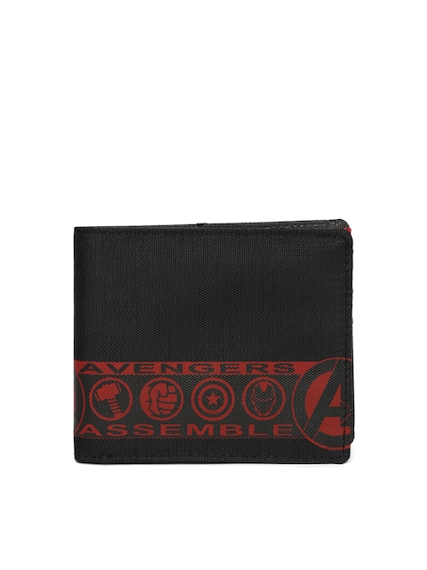 Kook N Keech Marvel Men Black & Red Printed Two Fold Wallet  available at myntra for Rs.209