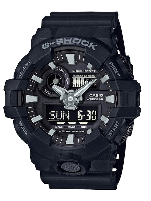 CASIO G-Shock Men Black Analogue & Digital Watch G715