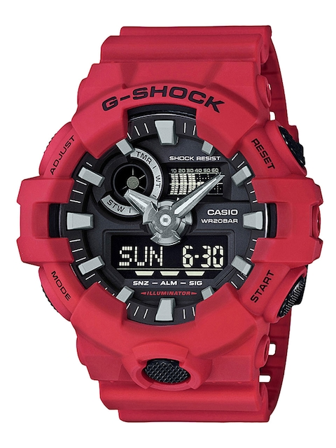 CASIO G-Shock Men Red Analogue and Digital Watch G716