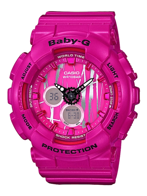CASIO Women Pink Printed Analogue & Digital Watch B175