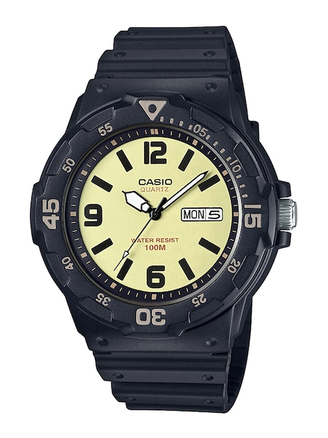 CASIO Men Beige Analogue Watch A1185
