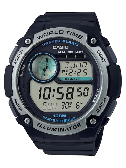 Casio Youth Digital Black Dial Men's Watch, CPA-100-1AVDF (D143)