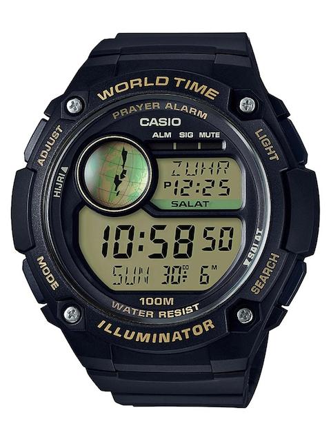 CASIO Men Black Multiple Time Zone Digital Watch D144