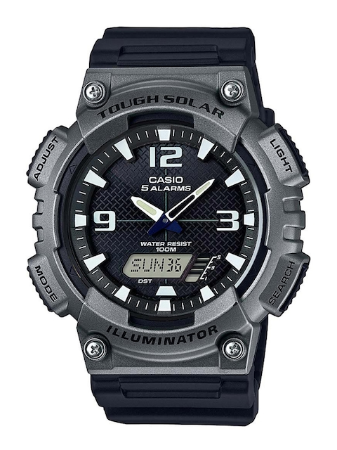 CASIO Men Black Chronograph Analogue & Digital Watch AD216