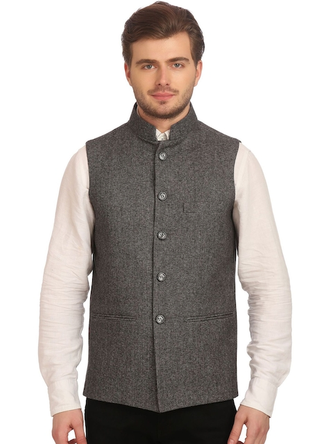 Wintage Black & Off-White Nehru Jacket