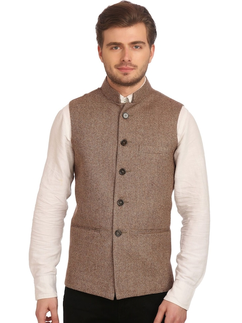 Wintage Brown Nehru Jacket