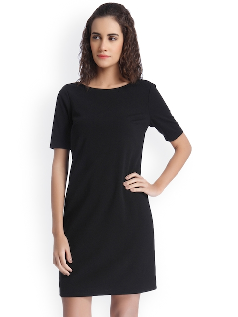 Vero Moda Women Black Solid Sheath Dress