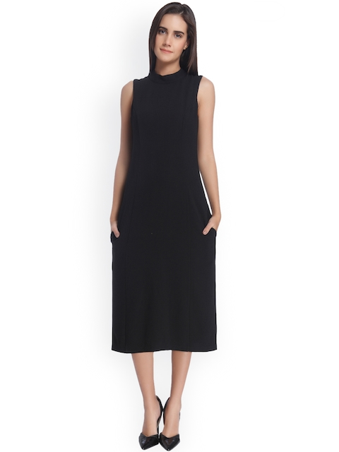 Vero Moda Women Black Solid Bodycon Dress