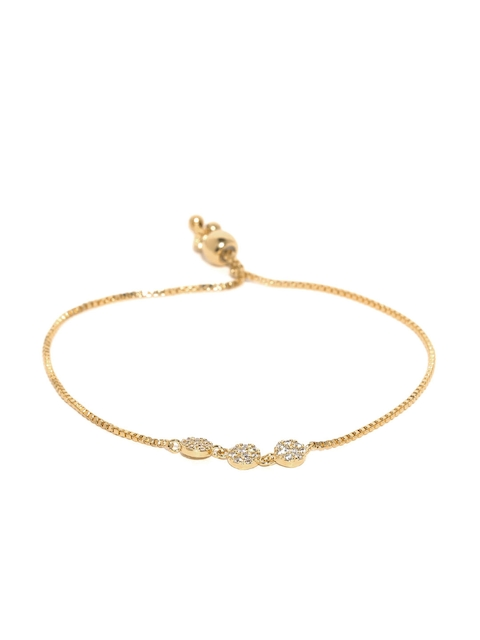 Accessorize Gold-Plated CZ Stone-Studded Bracelet