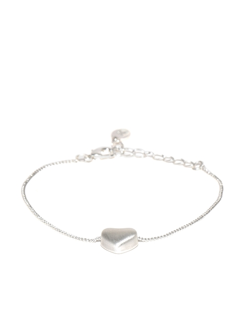 Accessorize Silver-Toned Heart-Shaped Bracelet