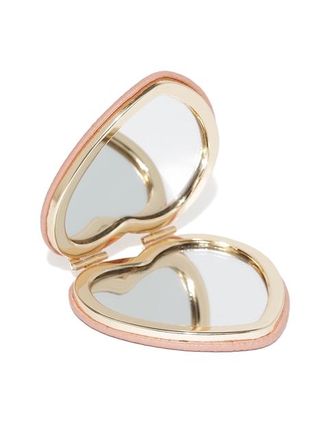 Accessorize Peach-Coloured Heart-Shaped Pocket Mirror