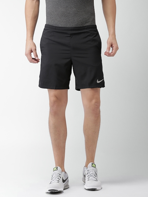Nike Men Black Solid Regular Fit Sports Shorts