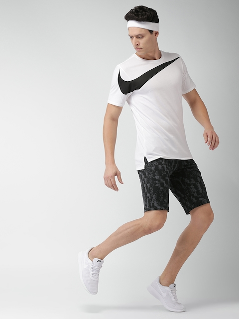 Nike Men Black Printed AS M NK FLX SHORT 7IN DISTANCE Sports Shorts