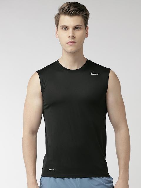 Nike Men Black Solid AS Dri-Fit LGD 2.0 Training T-shirt