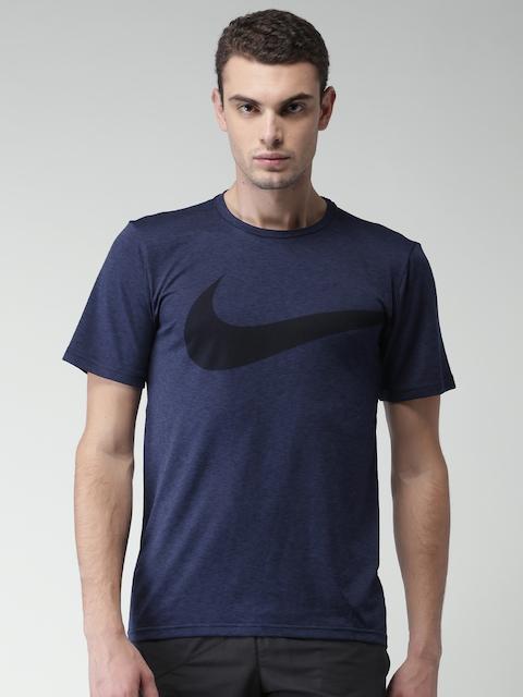 Nike Men Navy Printed AS M NK BRT TOP SS HPR DRY GFX T-shirt