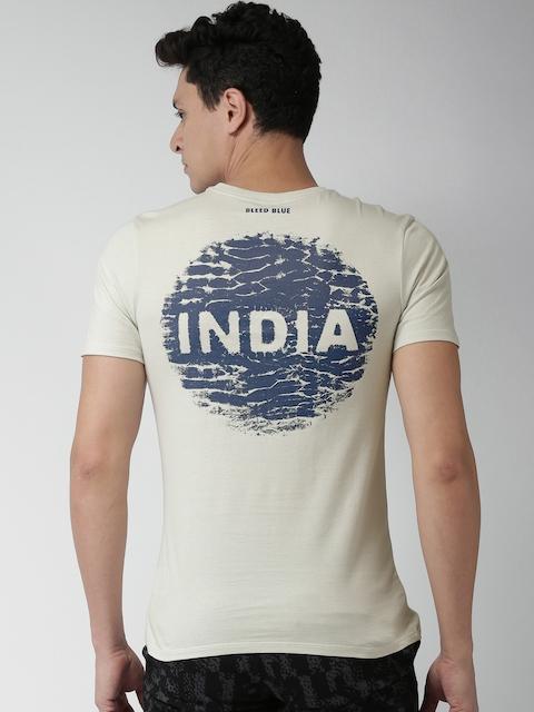 Nike Men Grey Printed Round Neck T-shirt