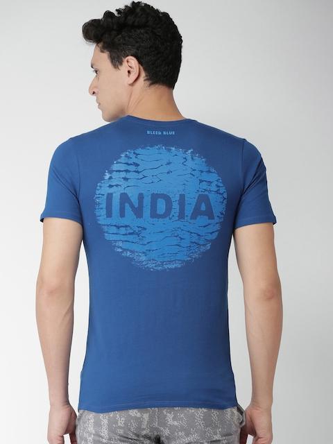 Nike Men Blue Solid Round Neck T-Shirt