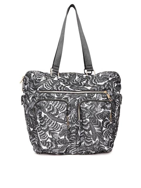 Accessorize Black & White Printed Shoulder Bag