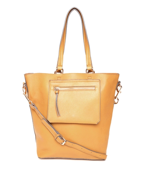 Accessorize Mustard Yellow Solid Shoulder Bag with Sling Strap